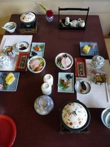 Notre petit déjeuner japonais au ryokan