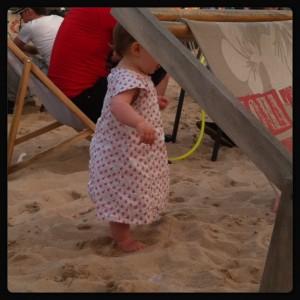 Little Miss Sunshine dans le sable
