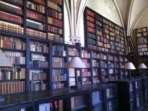 La bibliothèque de l'abbaye de Royaumont