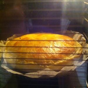 La galette cuit dans le four