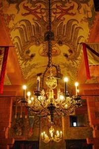 L'aigle impérial du plafond de la salle de bal