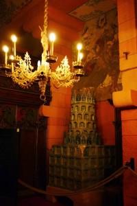 Le kareloffa de la salle principale