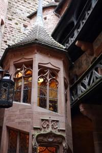 L'escalier en colimasson du Haut Koenigsbourg