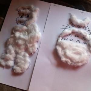 collage avec du coton