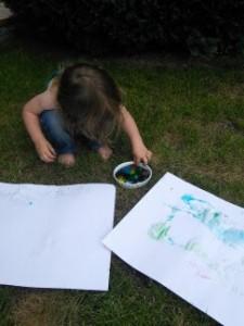Peinture avec des glaçons2