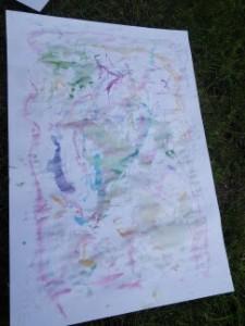 peinture avec des glaçons