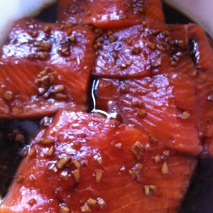 Pavé de saumon laqué à la sauce soja