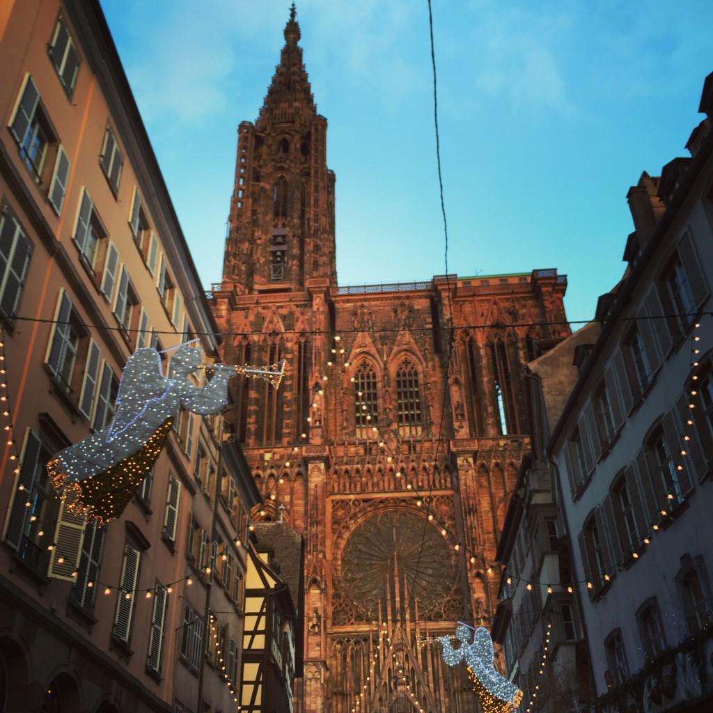La cathédrale de Strasbourg à Noël