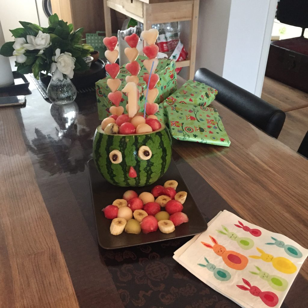 17 ao t 2016 la famille kangourou en chine for Decoration salade de fruits